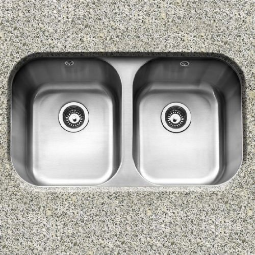 Caple Form 3636 Double Bowl Stainless Steel Undermount Kitchen Sink